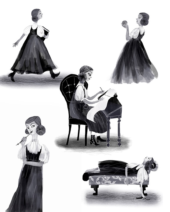 Character studies in black and white